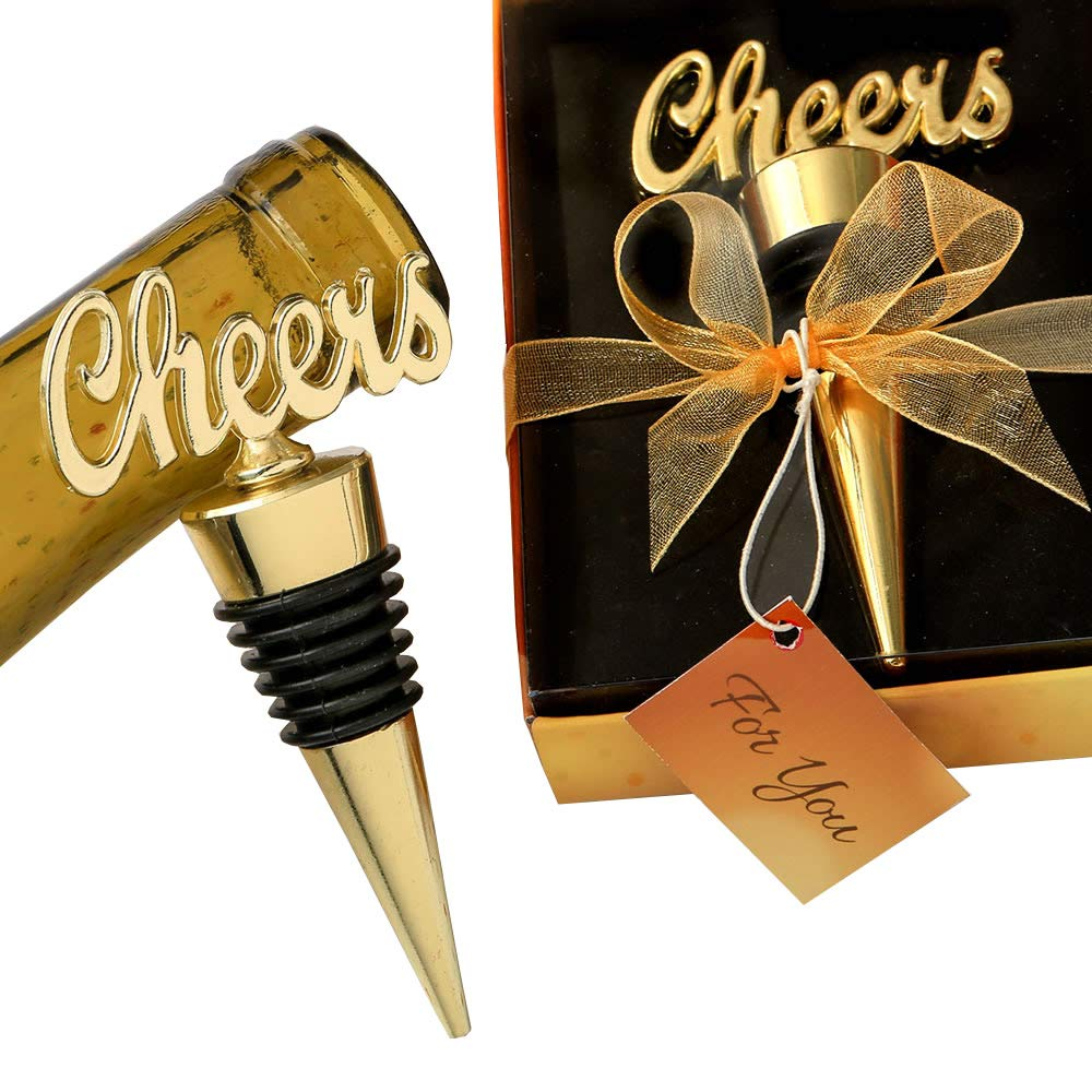 120 Cheers Gold Bottle Stoppers