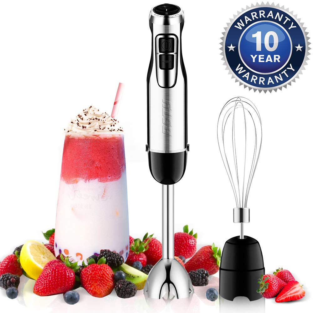 BSTY 2-in-1 Hand Blenders Set 15-Speeds Powerful Immersion Blender with 500-Watt Motor and Turbo Boost Button for Maximum Power, Hand Held Blenders by BSTY home