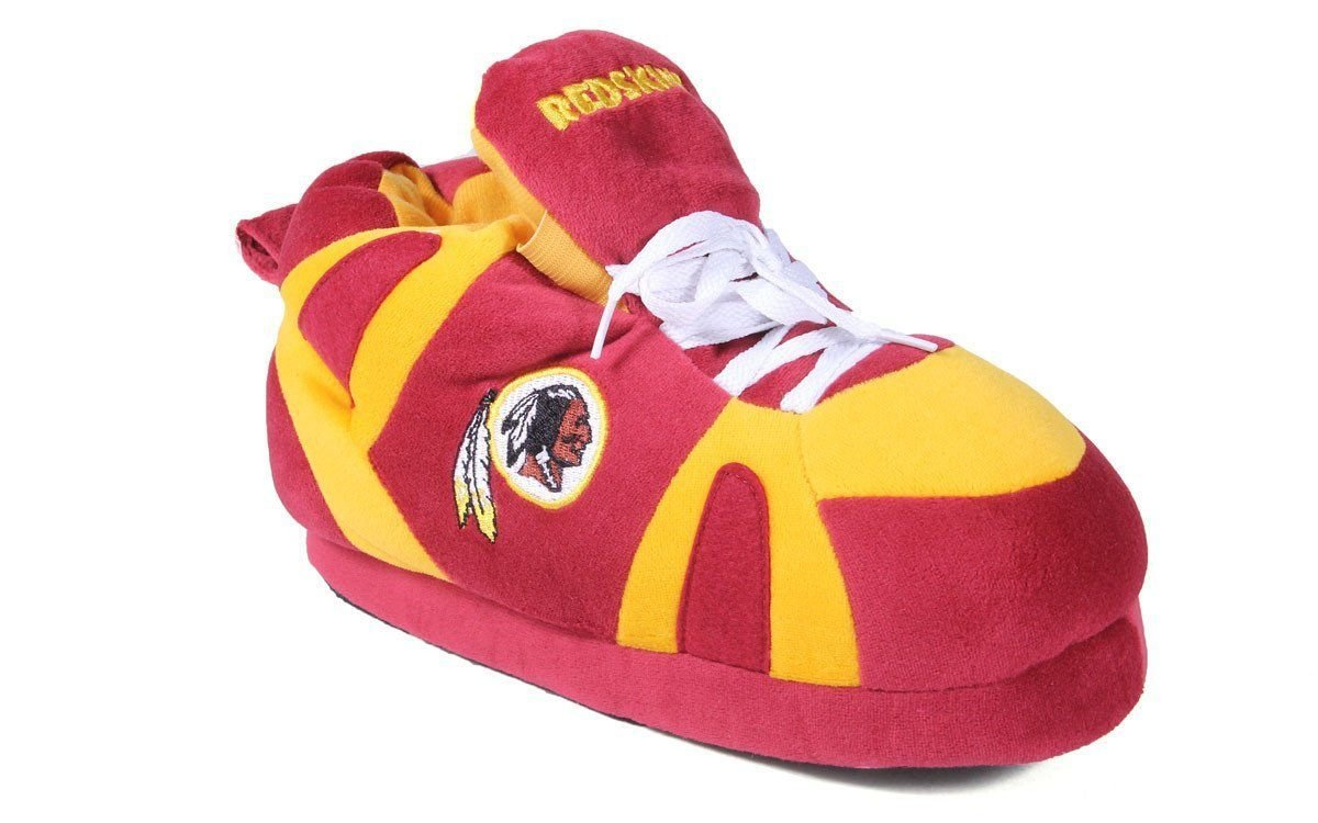Comfy Feet Happy Feet OFFICIALLY LICENSED Mens and Womens NFL Sneaker Slippers B001NLJ6KA 3. LG - W 8-10, M 7-9|Washington Redskins