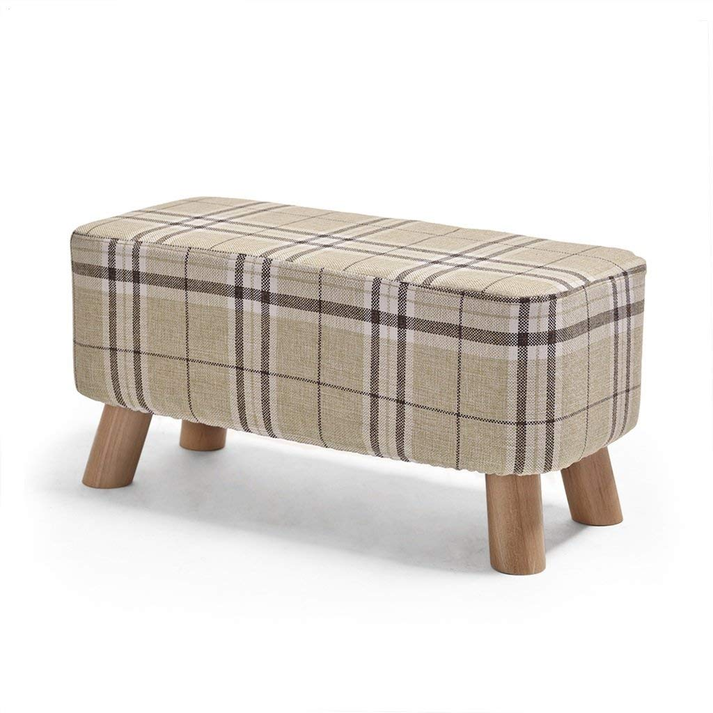 A Jingbiao Sofa stool solid wood shoes stool cloth stool footstool small stool - small stool (color   D)