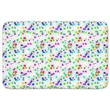 Paintball Stars Memory Foam Bath Mat: Large