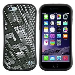 """Hypernova Slim Fit Dual Barniz Protector Caso Case Funda Para Apple (5.5 inches!!!) iPhone 6 Plus / 6S Plus ( 5.5 ) [Ingeniería de Edificación Blanco Negro""""]"""