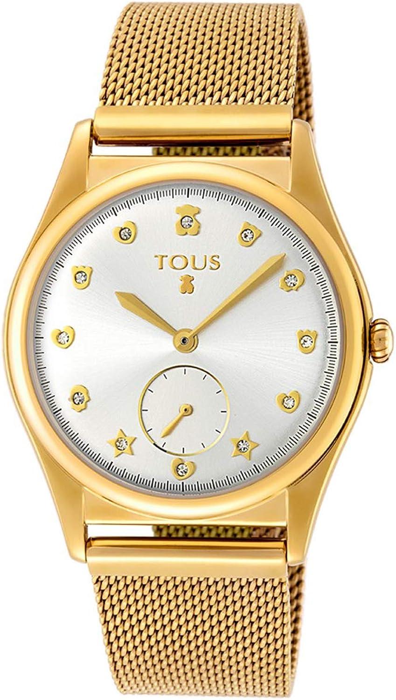 TOUS Reloj Free de Acero Dorado-Rosado