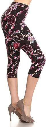 Leggings Depot Higher Waist Women's Buttery Soft Solid Yoga Capri Leggings - Many Colors