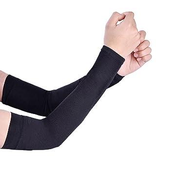 UV Protección Brazo de Refrigeración mangas para hombres mujeres niños Bloqueador solar Protección, color negro