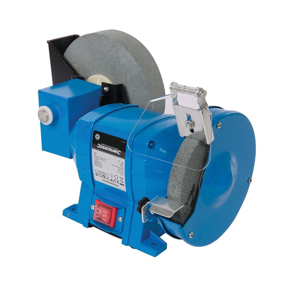 Silverline 544813 - 250W DIY Wet & Dry Benchtop Grinder 230V