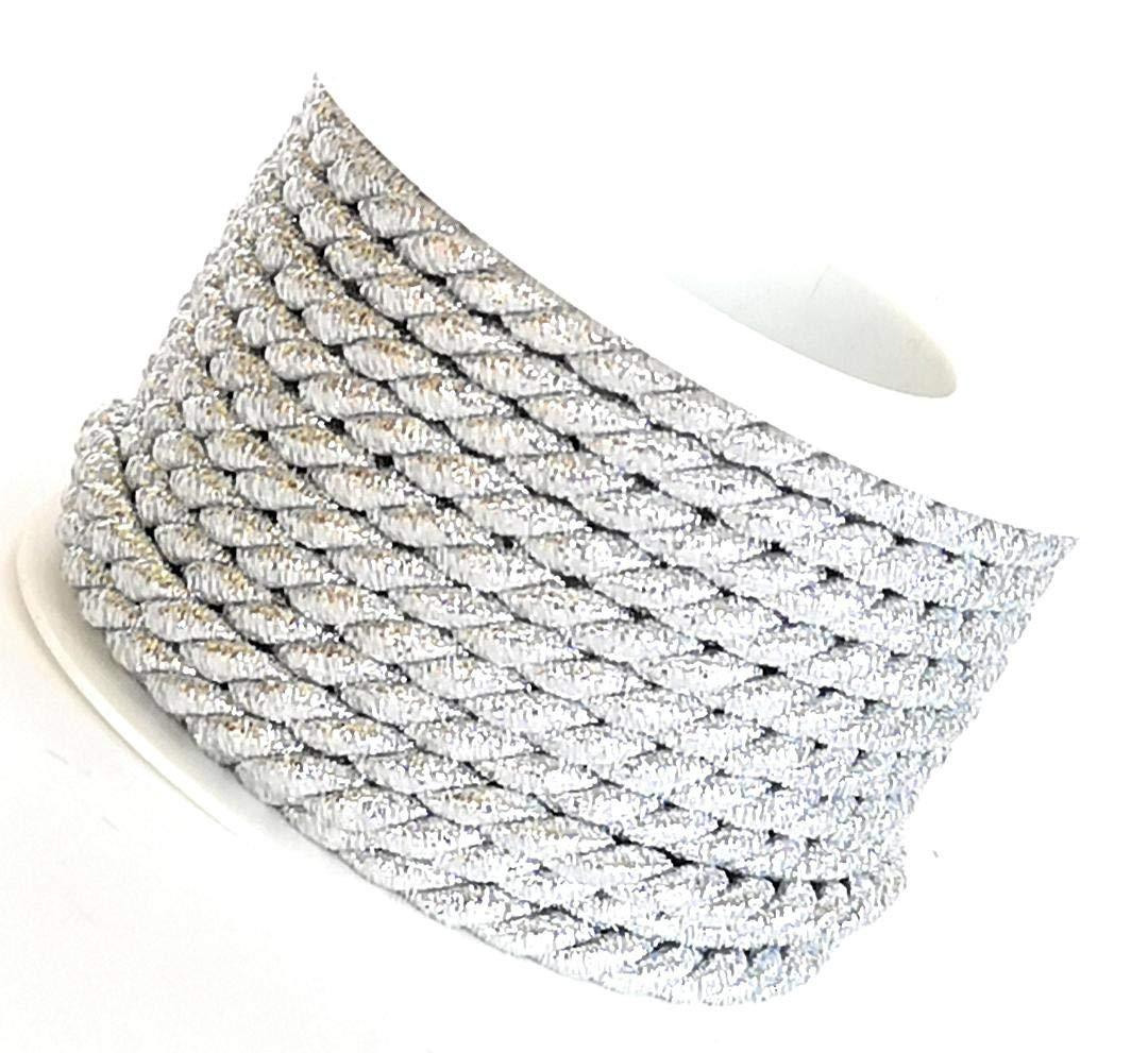 Cordoncino 10 m x 6 mm argento girevole cordoncino CORDINO Band nastro decorativo nastro Filo Steffen Scheunemann