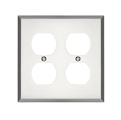 Maykke Graham Double Duplex Outlet Cover Electrical Socket Solid
