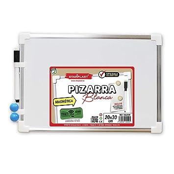 Starplast OA2500 - Pizarra Blanca magnética 20x30cm, Incluye ...