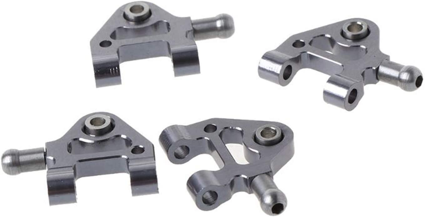wivarra 1Set Metal Steering Cup Swing Arm Shock Absorber Plate Set for Wltoys P929 P939 K969 K979 K989 K999 1//28 RC Car,Silver /& 2x Upgrade Spare Parts Differential Box K989-26