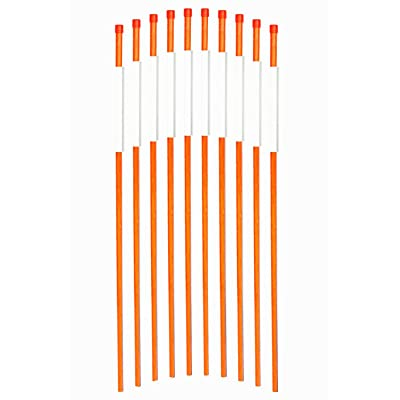 FiberMarker Reflective Driveway Makers 36-Inch Orange 25-Pack Hollow 5/16-Inch Dia Reflective Snow Stakes for Roadway: Garden & Outdoor