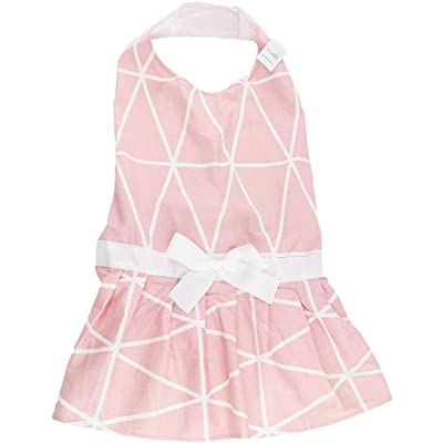 Midlee Pink Geometric Big Dog Dress