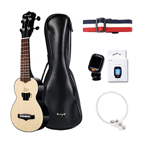 Amazon Enya Kumxc Coffee Mini Ukulele With Gig Bag Tuner Capo