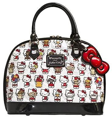 c1a1a926da9d Image Unavailable. Image not available for. Color  Loungefly Hello Kitty  Multi Kitty White Embossed Dome