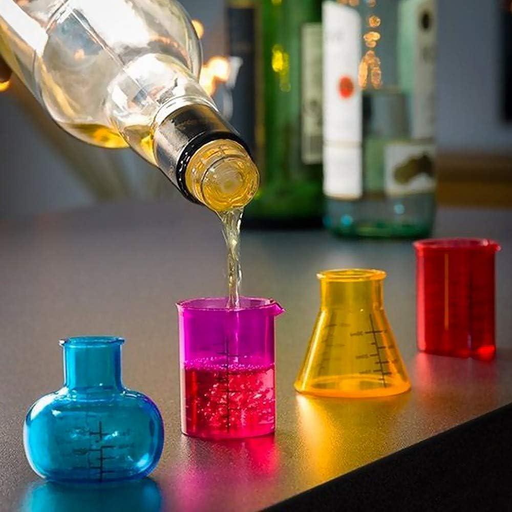 Out of the blue Chemistry - Juego de 4 Vasos de chupito (50 ml)