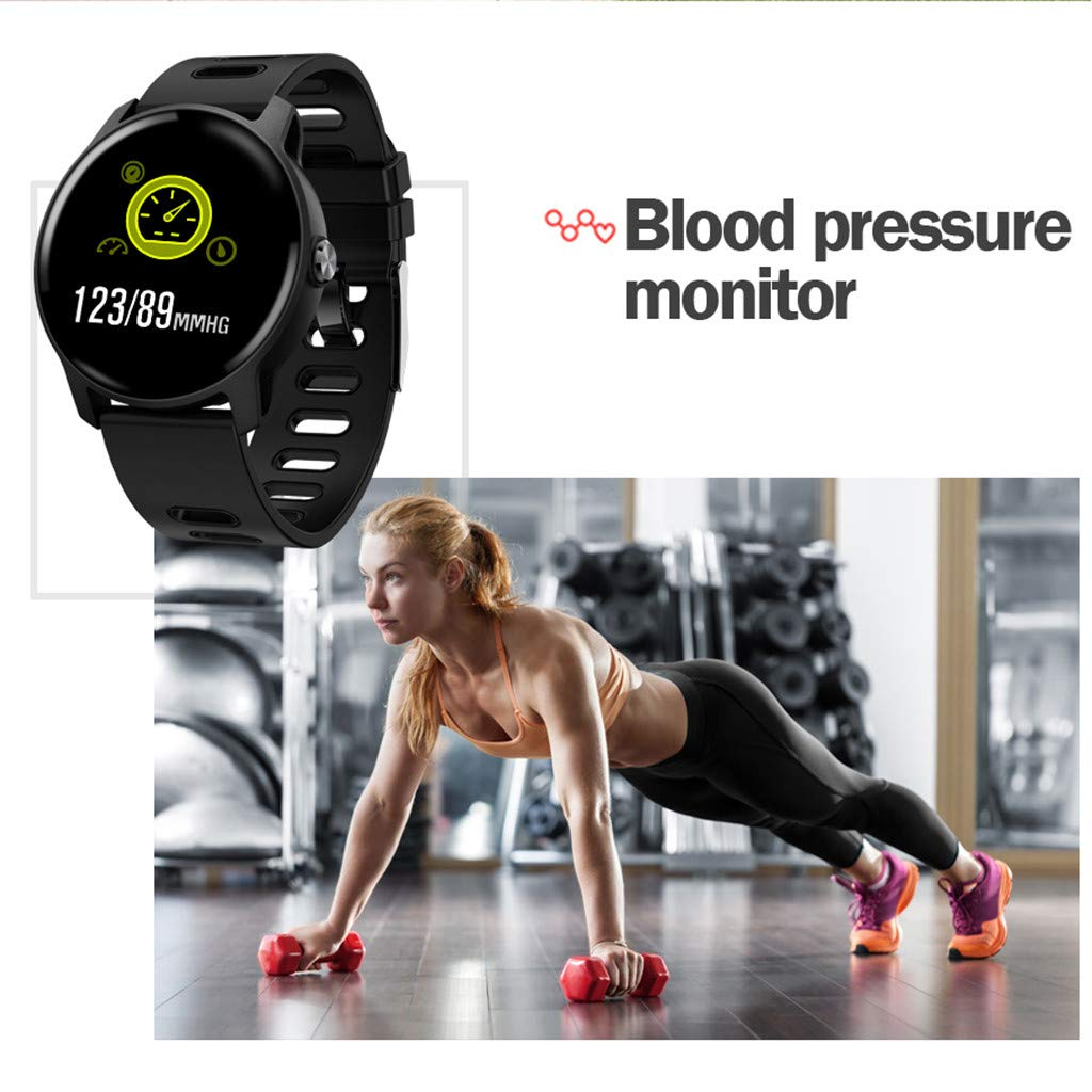 For Android & iOS, Waterproof Sport Smart Watch Fitness Heart Rate Tracker Blood Pressure Calorie Monitor Smart Bracelet (Black) by YNAA (Image #4)