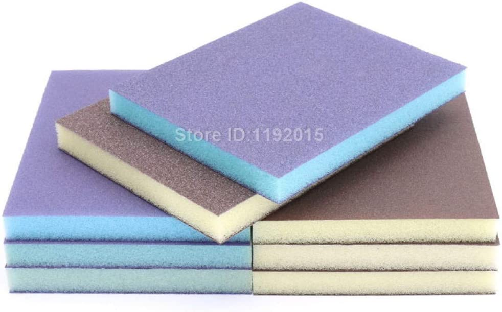 ZCZSDXB sandpaper-1PC Double-sided Polishing Sponge Sandpaper Sanding Block Pad Set Wood Metal Derusting Double Side Sand Descaling Cleaning Brush,Thick 60,80 size