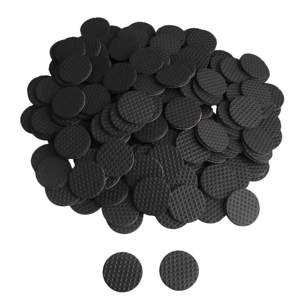 BQLZR - Almohadillas autoadhesivas de espuma antideslizante, redondas, 3 x 3 cm, color negro, 200 unidades