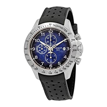 4643489a19c Image Unavailable. Image not available for. Color: Tissot V8 Blue Dial  Automatic Mens Chronograph Watch ...
