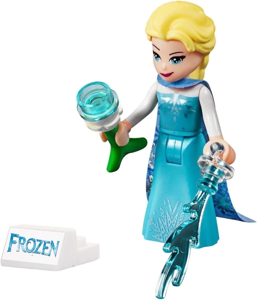 LEGO Disney Princess Frozen 2 Minifigure Elsa with Snow Pattern Cape and icicles
