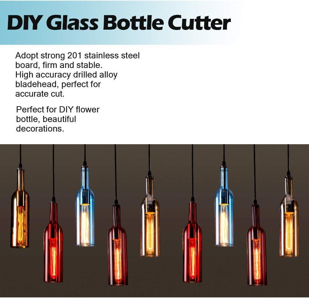 kit de accesorios para m/áquina de cortar botellas para manualidades cuadradas y ovaladas proyectos de manualidades para botellas redondas Kit de cortador de botellas de vidrio de Puimentiua