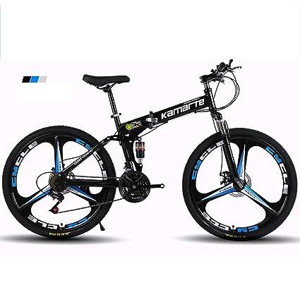 Bike Plegable Bicicleta de montaña Bicicleta amortiguación transmisión aleación de Aluminio 24/26 Pulgadas Doble