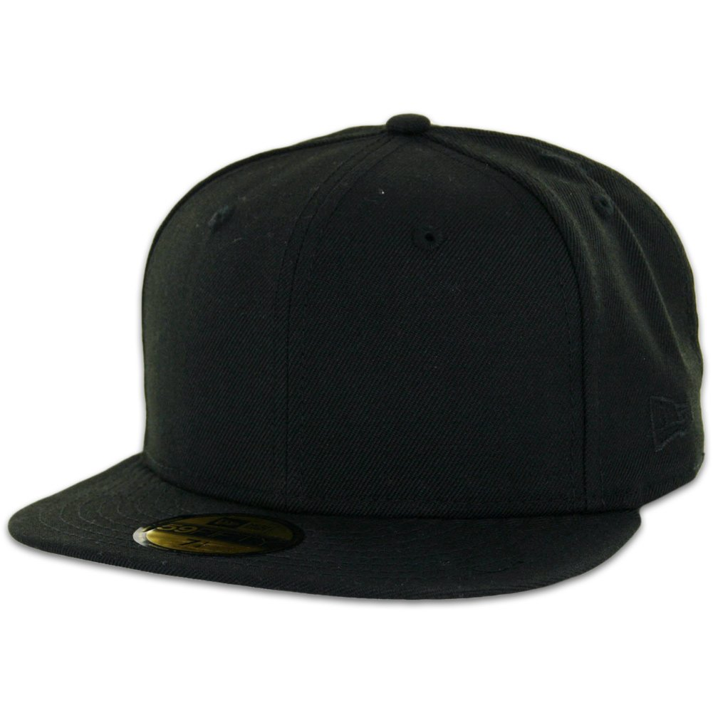 4ead47d0 New Era 59FIFTY Fitted Cap Blank Black with Grey Undervisor Plain Blanks Hat,  Baseball Caps - Amazon Canada