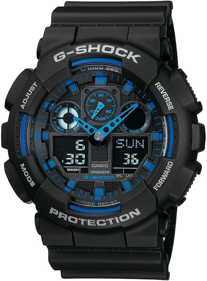 Casio G de shock–Reloj de pulsera para hombre con Analog/Digital de Pantalla y Resin de pulsera–GA de 100