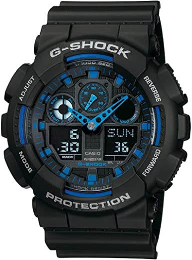 Casio g-shock orologio analogico - digitale, uomo GA-100-1A2ER