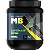 MuscleBlaze Micronized Glutamine, 250gms/0.55 lb Unflavoured
