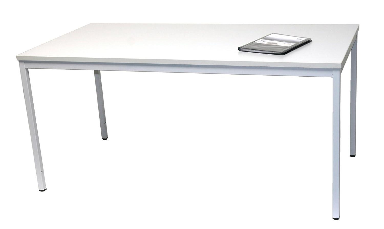 Schreibtisch (Stahl) (Stahl) (Stahl) LxB  160x80 cm, lichtgrau, Marke  Szagato (Arbeitstisch, Computertisch, Bürotisch, Druckertisch) f0b684