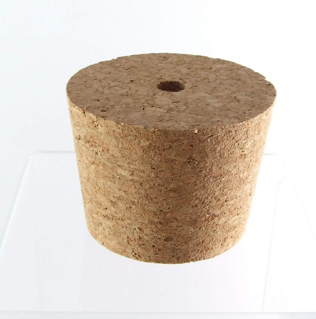 Tappi Conici in Sughero con Foro 64/54mm - Tappo Gorgogliatore Tappi di Gomma con Perforazione Fermentazione