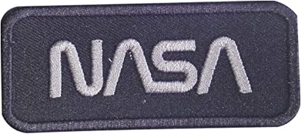 NASA Space Shuttle Black on Black Embroidered Patch stealth mission patch