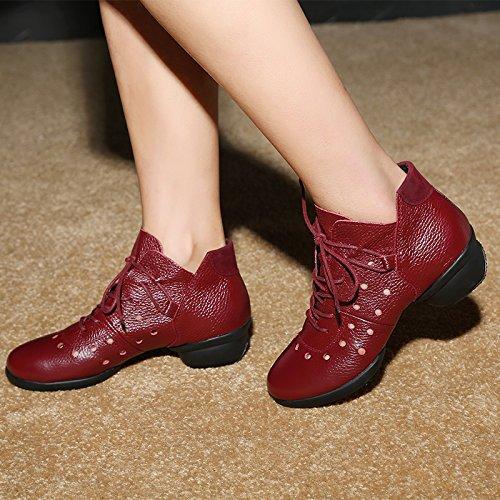Wine rouge évidée Trente-quatre Wuyulunbi@ Souliers de danse Chaussures de Danse Adultes