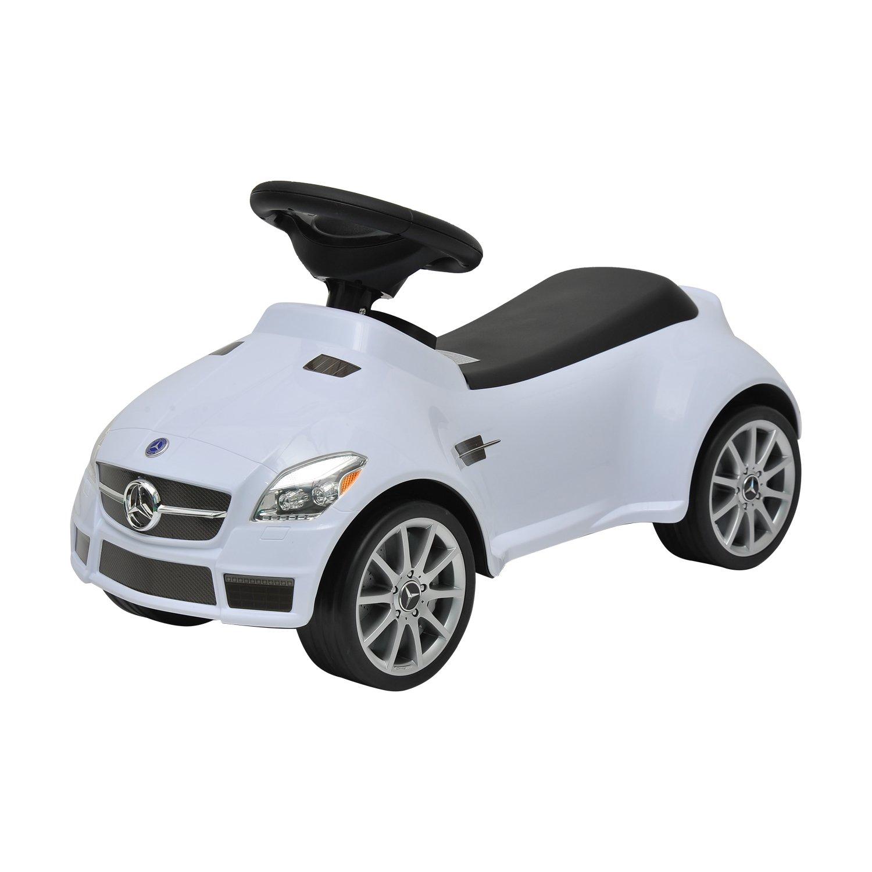 amazoncom mercedes slk 55 amg push ride along baby walker white toys games