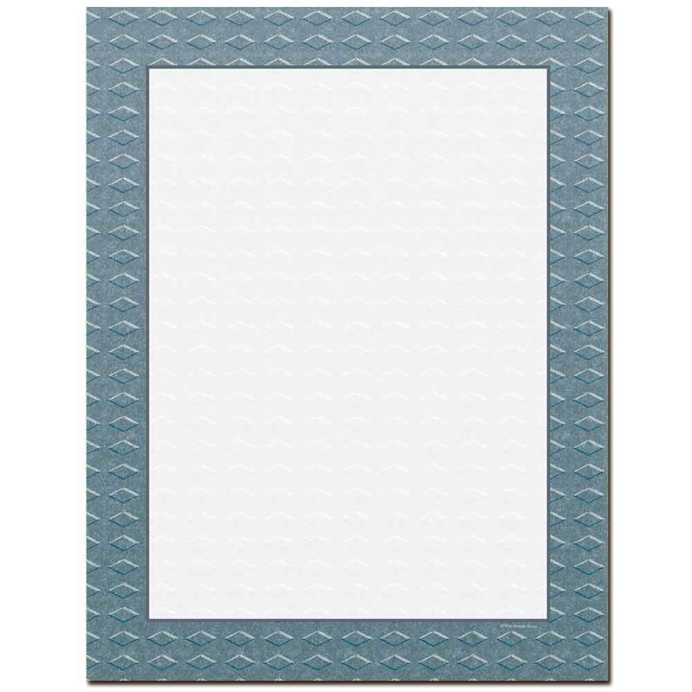Steel Border Letterhead Laser & Inkjet Printer Paper (100 Pack)