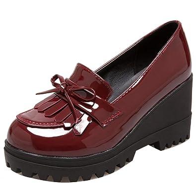 Kaizi Karzi Mujer Tacon De Cuna Zapatos Mocasines Sin Cordones: Amazon.es: Zapatos y complementos
