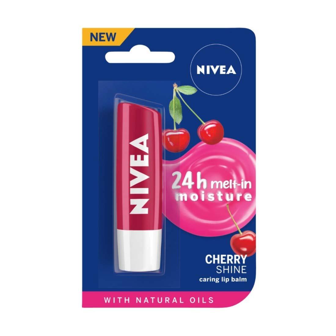 NIVEA Lip Balm, Cherry Shine, 4.8g