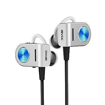 Auriculares Bluetooth, Auriculares inalámbricos IAVCC V4.1, Cómodos, Micrófono, Tecnología CVC