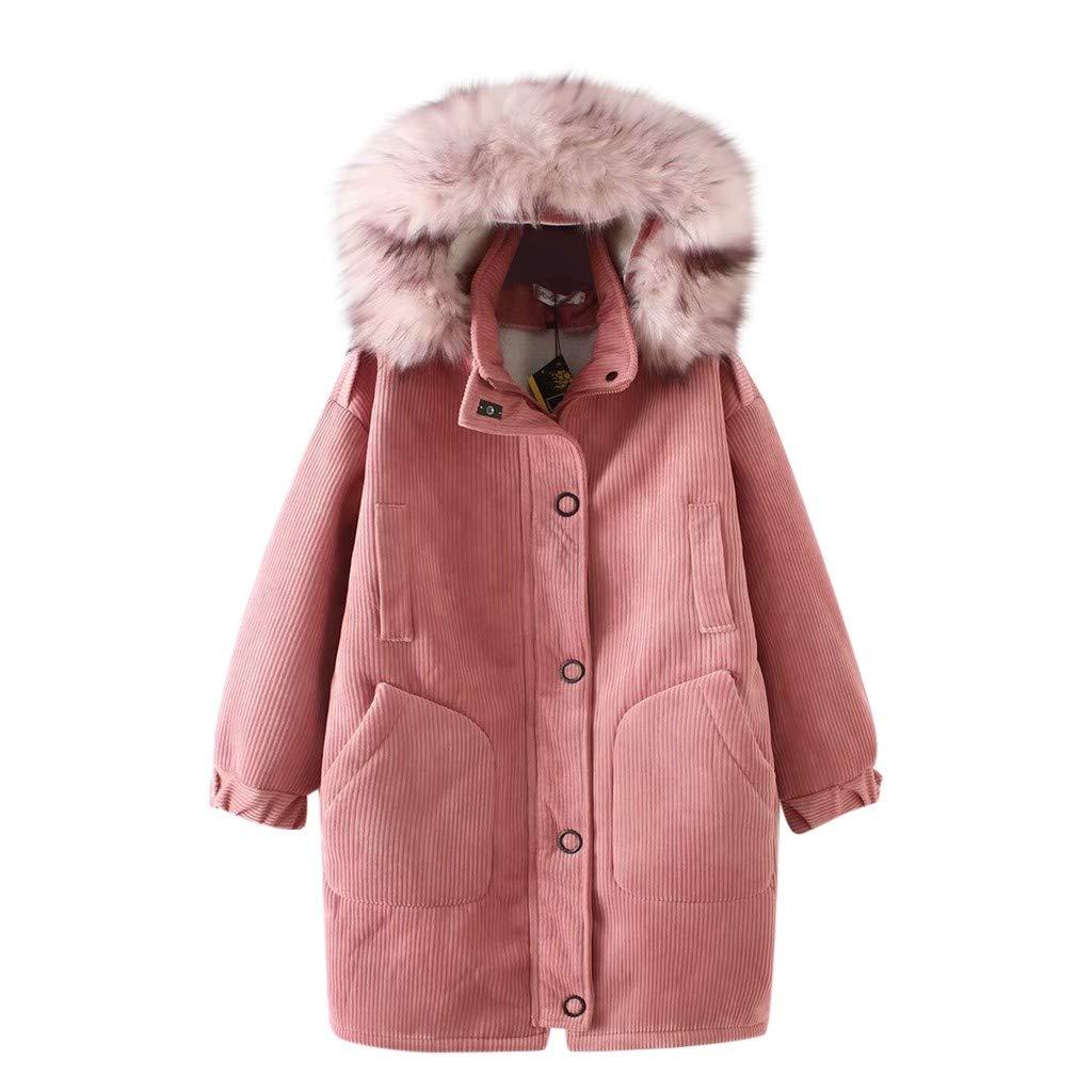 Yanvan Fashion Women Solid Wool hooded Winter Autumn Long Warm Jacket Coat Outwear by Yanvan