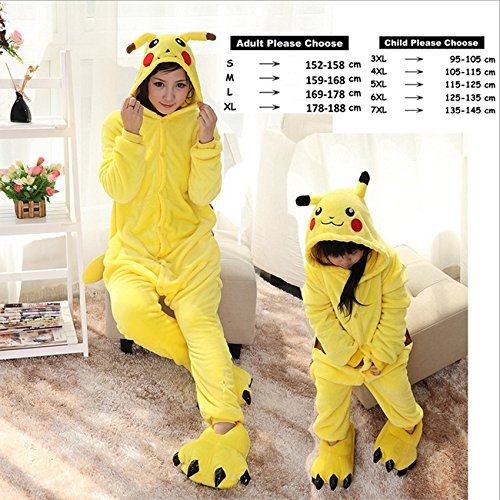 Amazon.com: MH-RITA Animal Pajamas Cute Unicorn Tiger Panda Cartoon Sleepwear Winter Unisex Adults Kids Flannel Pajama Sets,FlannelPikachu1,4XL: Clothing