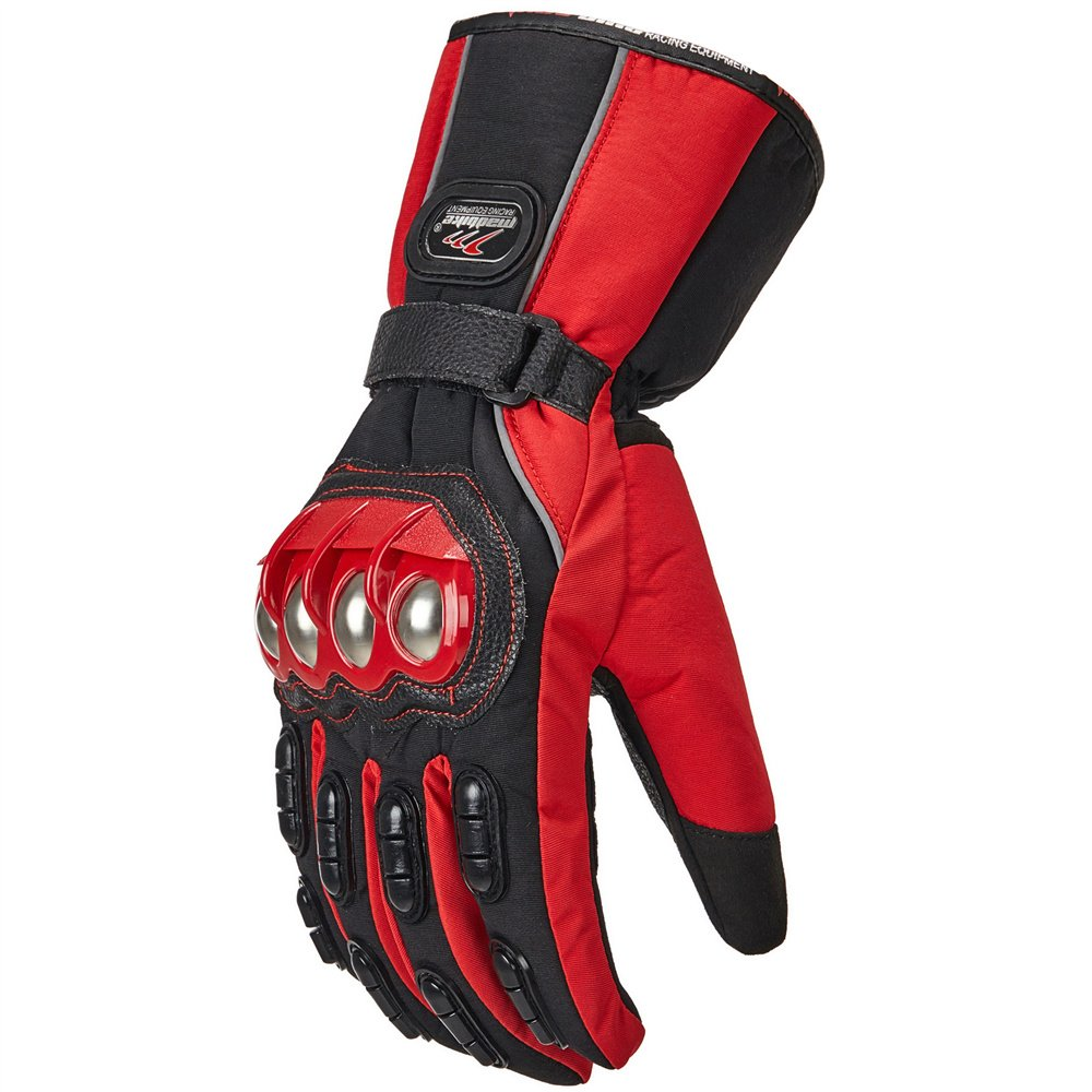 Yamaha motorcycle gloves india - Ilm Alloy Steel Motorcycle Riding Gloves Warm Waterproof Windproof For Winter Use L Red Winter
