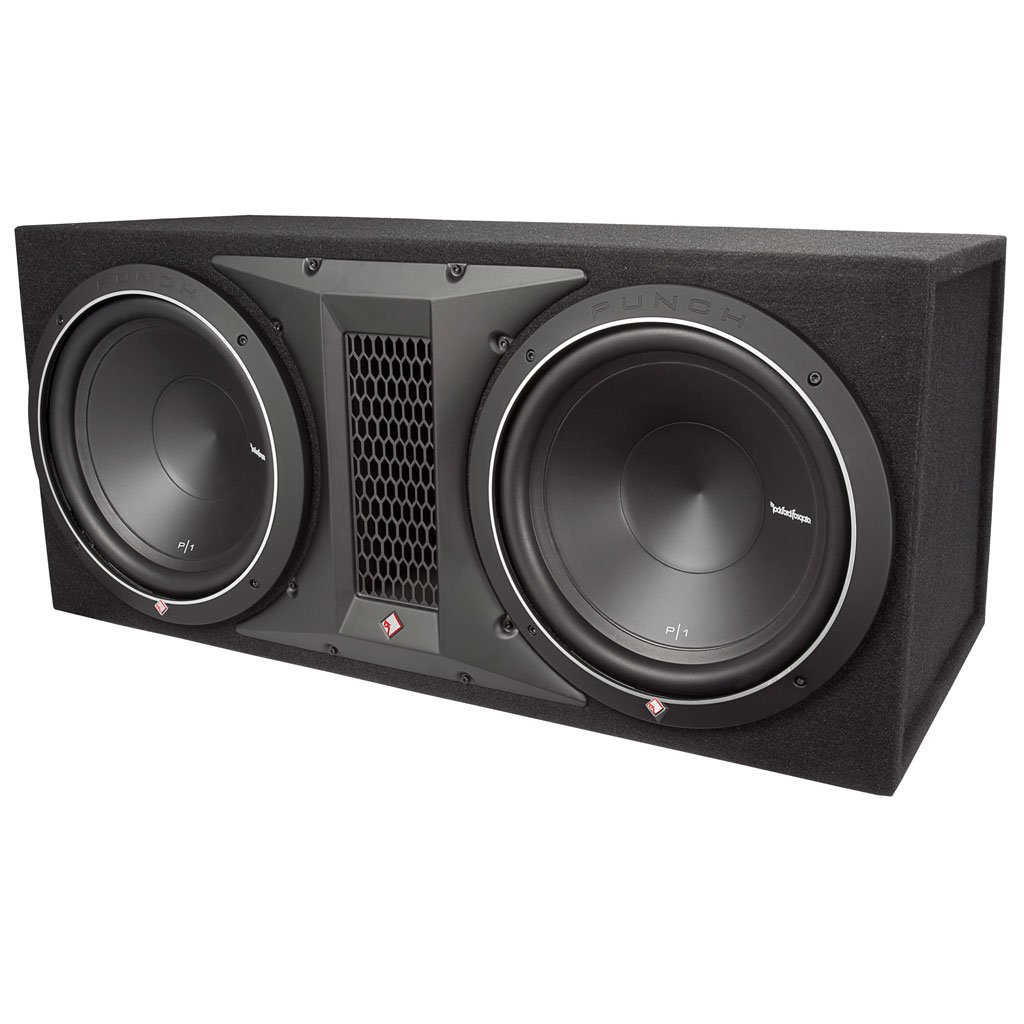 Amazon.com: Rockford Fosgate P1-2X12 500 Watts Dual Rms Subwoofer Enclosure:  Car Electronics