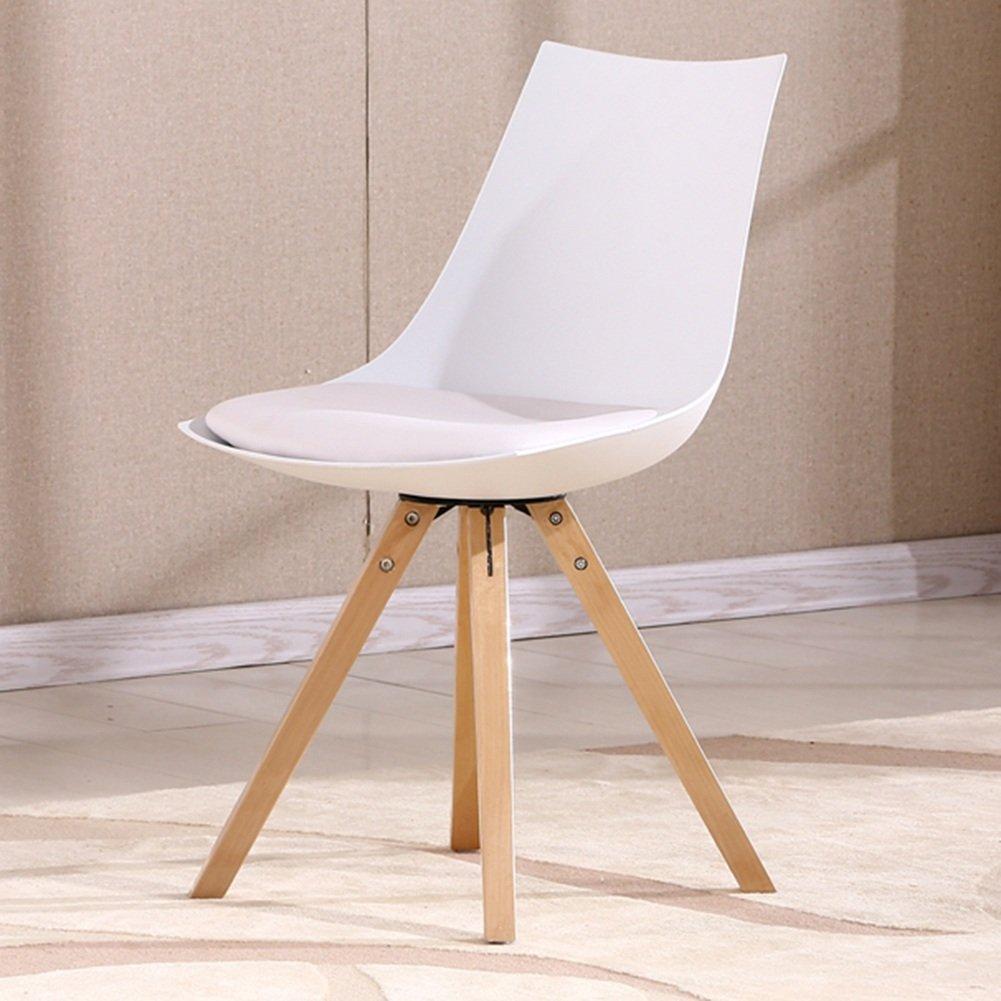 ZEMIN ダイニングチェア椅子の木の木製折り畳み 椅子ソファーシートスツールテーブルバックレストポータブルクリエイティブファッションソリッドウッドレッグ、2色、46x44x81CM ( 色 : 白 ) B0797JVH3V白