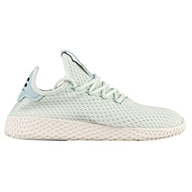 44111c341 Image Unavailable. Image not available for. Color  Adidas x Pharrell  Williams Big Kids Tennis HU J green linen green footwear white ...