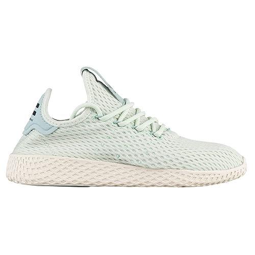 0b2d34a1a07 Adidas x Pharrell Williams Tennis HU J Shoe Mint Leaf/White 3.5 M US Big