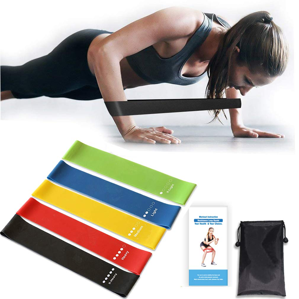 Amazon.com : Cabepow Premium Resistance Loop Exercise Bands, Exercise Fitness Resistance Band for Legs and Glutes, Home Fitness, Crossfit, Stretching, ...