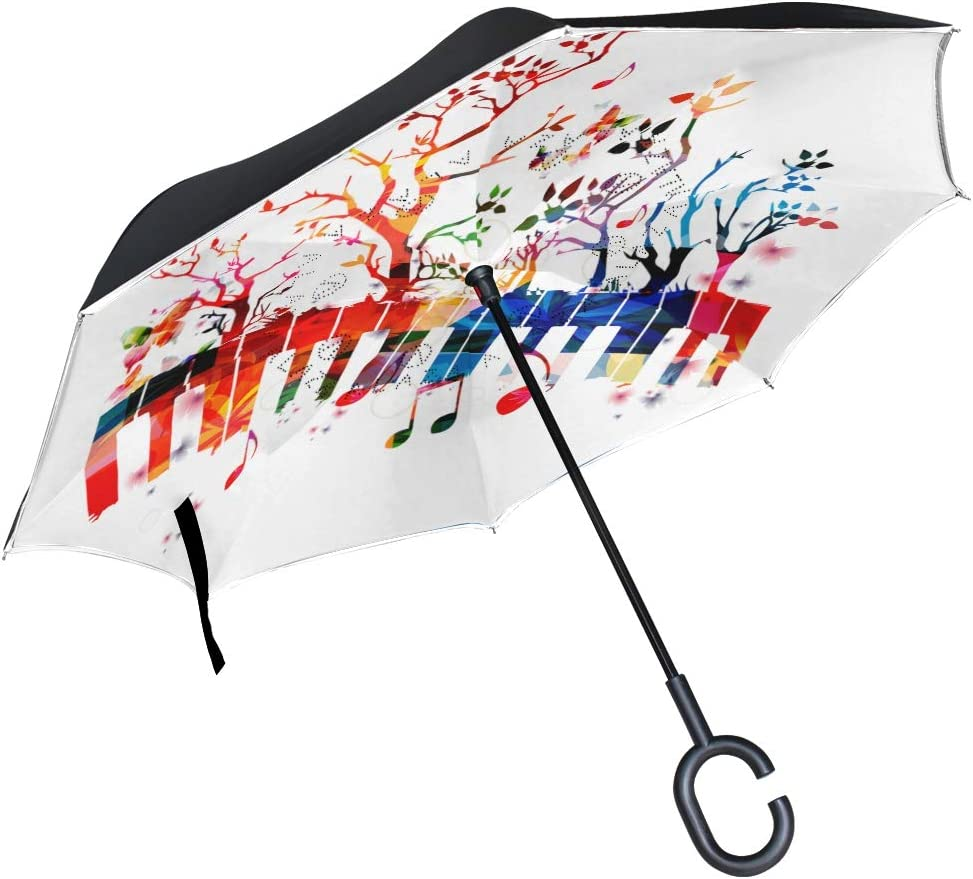 American Football Game Double Layer Windproof UV Protection Reverse Umbrella With C-Shaped Handle Upside-Down Inverted Umbrella For Car Rain Outdoor