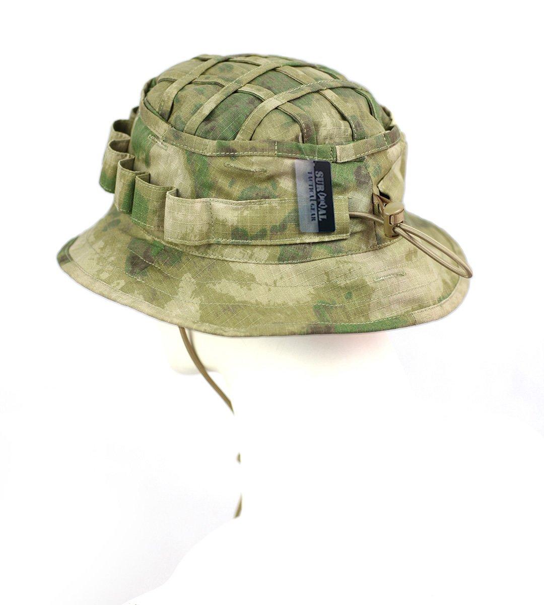 8649856c7cb59 Amazon.com   ZAPT Boonie Hat Military Camo Cap Hunter Sniper Ghillie Bucket  Hats Adjustable Jungle Bush Hat (A-TACS FG Camo)   Sports   Outdoors