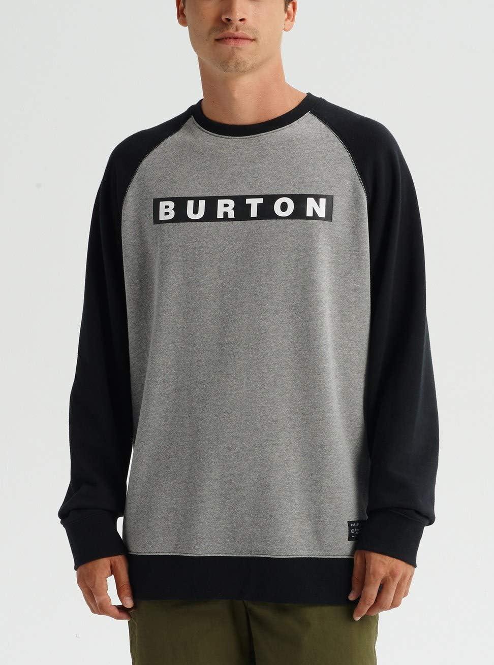 Burton - Vault, Felpa Uomo Gray Heather